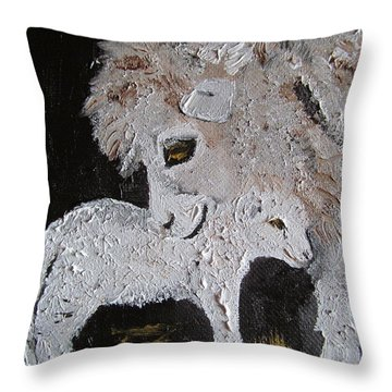 Lambing Throw Pillow