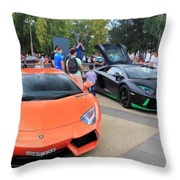 Lamborghini Aventadors Throw Pillow