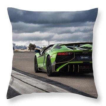 #lamborghini #aventadorsv #superveloce #roadster Throw Pillow