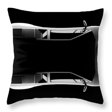Lamborghini Countach 5000 Qv 25th Anniversary - Top View Throw Pillow