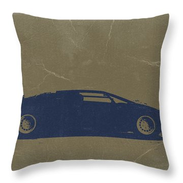 Lamborghini Countach Throw Pillow