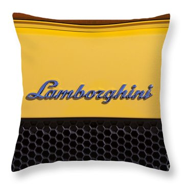 Throw Pillow featuring the photograph Lamborghini by David Millenheft