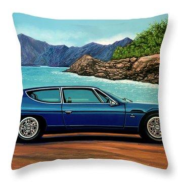 Lamborghini Espada 1968 Painting Throw Pillow