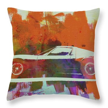 Lamborghini Miura Side 2 Throw Pillow by Naxart Studio