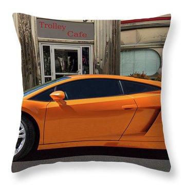 Lamborghini Super Car Throw Pillow