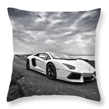 Throw Pillow featuring the photograph Lamborgini Aventador by ItzKirb Photography