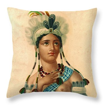 L'amerique 1820 Throw Pillow by Padre Art