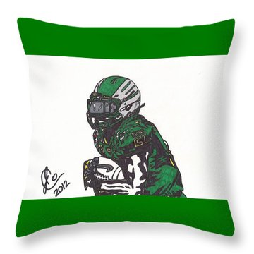 Throw Pillow featuring the drawing Lamicheal James 1 by Jeremiah Colley