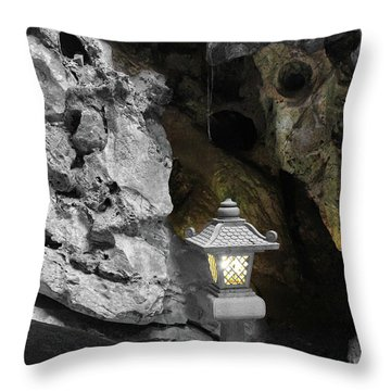 Lamp In Marble Mountain Throw Pillow