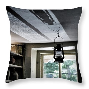 Lamp Light And Shadow Throw Pillow