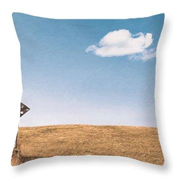 Lamp-lite Motel Throw Pillow