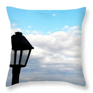 Lamp Post Throw Pillow