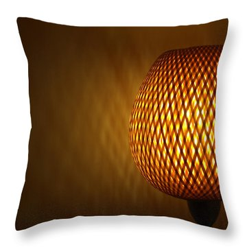 Lamp Throw Pillow by RKAB Works