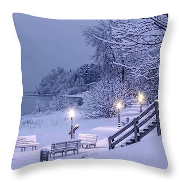 Lamplight At Twilight Throw Pillow