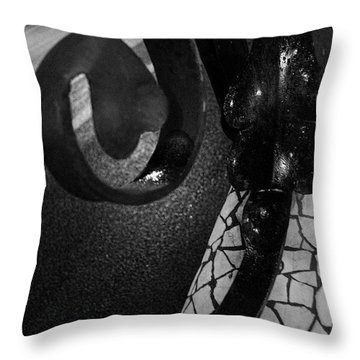 Lamppost Of Passeig De Gracia Throw Pillow