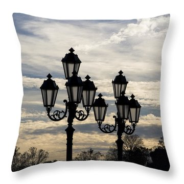 Lampposts Throw Pillow