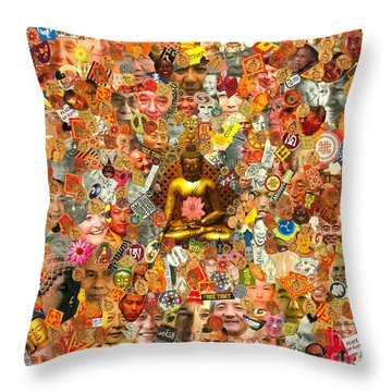 Lamps Of Enlightenment Throw Pillow