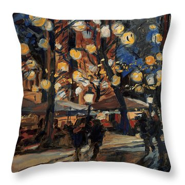 Lampy Night Throw Pillow