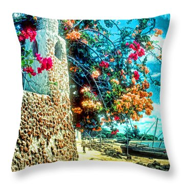 Lamu Beach Throw Pillow