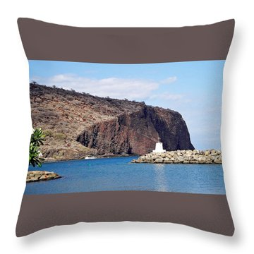 Lanai Harbor Throw Pillow