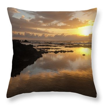 Lanai Sunset #1 Throw Pillow