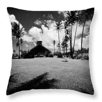 Throw Pillow featuring the photograph Lanakila Ihiihi O Iehowa O Na Kaua Church Keanae Maui Hawaii by Sharon Mau