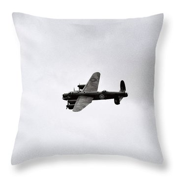 Lancaster Bomber Throw Pillow