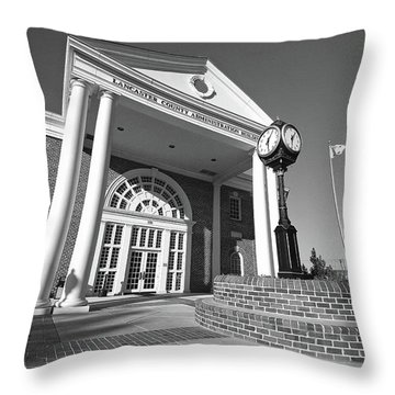 Lancaster County Administration Building Bw 20 Throw Pillow
