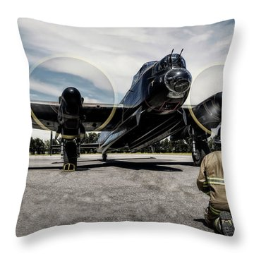 Lancaster Engine Test Throw Pillow