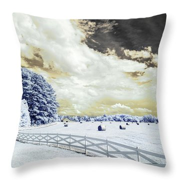 Lancaster Farm In Ir Throw Pillow