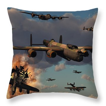 Lancaster Heavy Bombers Of The Royal Throw Pillow by Mark Stevenson