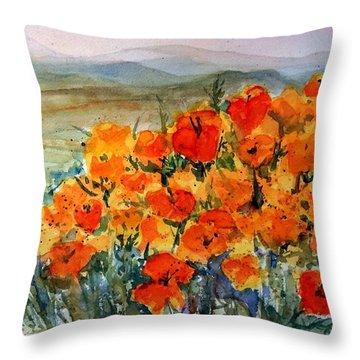 Lancaster Poppy Fields Throw Pillow