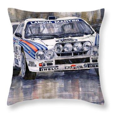 Lancia 037 Martini Rally 1983 Throw Pillow