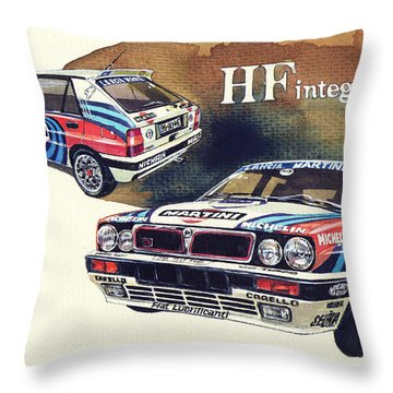 Lancia Delta Integrale Martini Throw Pillow