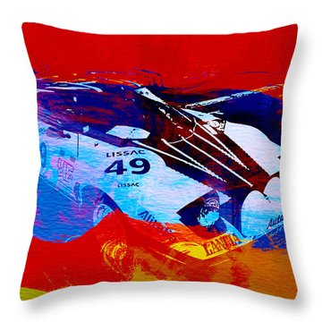 Lancia Stratos Watercolor 2 Throw Pillow by Naxart Studio