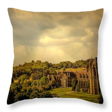 Throw Pillow featuring the photograph Lancing College by Chris Lord