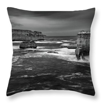 Land And Sea Throw Pillow by Mark Lucey