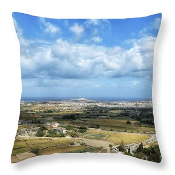 Land And Sky Throw Pillow by Stephan Grixti