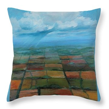 Land Art Throw Pillow