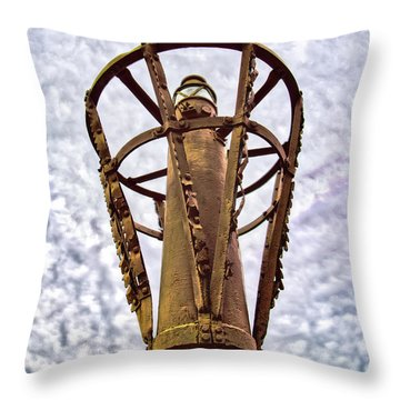 Throw Pillow featuring the photograph Land Buoy No 6 by Gary Slawsky