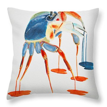 Land Crab Fight Stance Throw Pillow