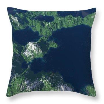 Land Of A Thousand Lakes Throw Pillow by Gaspar Avila