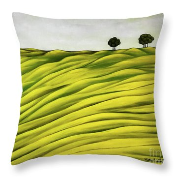 Land Of Breather Throw Pillow