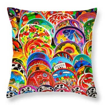 Land Of Brilliant Color Throw Pillow