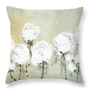 Land Of Cotton Throw Pillow by Kirsten Reed