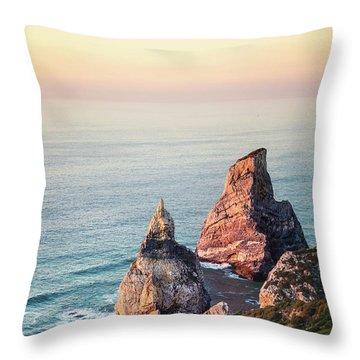 Land Of Eternal Sunset Throw Pillow