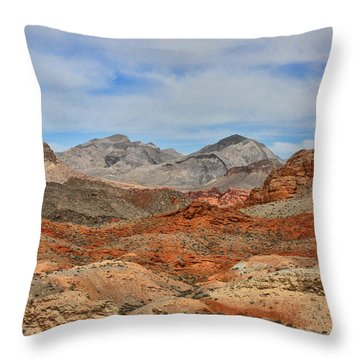 Throw Pillow featuring the photograph Land Of Fire by Tammy Espino
