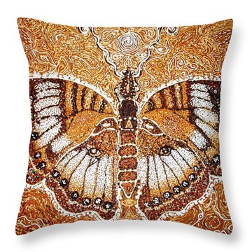 Land Of Gold Throw Pillow