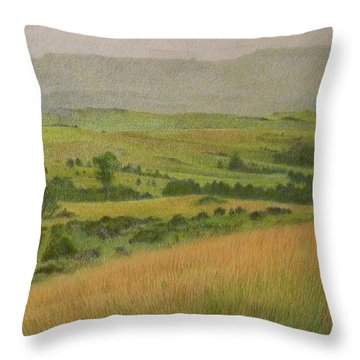 Land Of Grass Throw Pillow
