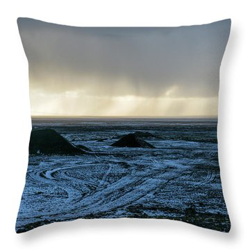 Throw Pillow featuring the photograph land of Lava by Dubi Roman